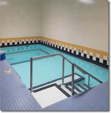 Heated pool at the LeRoy Location of Village Physical Therapy & Fitness